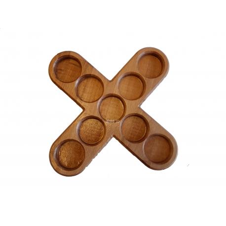Suport lumanari in forma de cruce cu margini rotunjite FAG